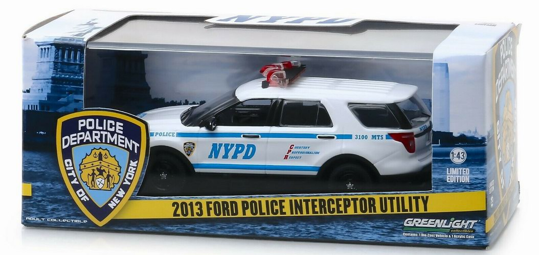 Voiture FORD POLICE INTERCEPTOR UTILITY NYPD NEW YORK POLICE DEPARTMENT 1/43