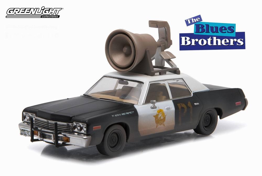 Voiture miniature DODGE Monaco Blues Brothers Bluesmobile 1974
