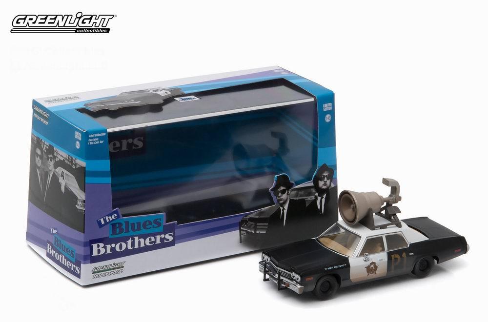 Voiture miniature DODGE Monaco Blues Brothers Bluesmobile Hautparleur 1974