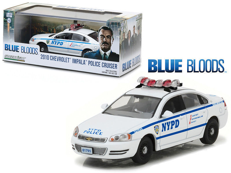Voiture CHEVROLET  Impala 2010 NYPD NEW YORK POLICE DEPARTMENT BLUE BLOODS NYPD NEW YORK POLICE DEPARTMENT 1/43