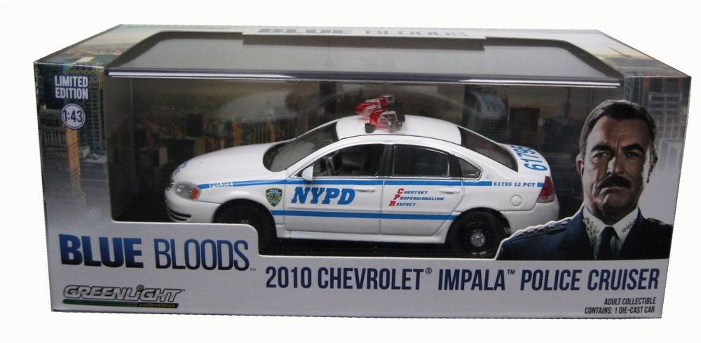Véhicule CHEVROLET  Impala 2010 NYPD NEW YORK POLICE DEPARTMENT BLUE BLOODS 1/43