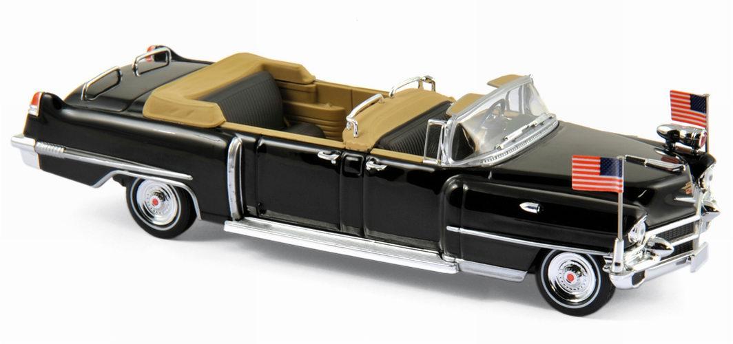 Voiture miniature Limousine CADILLAC Queen Elisabeth II 1956 1/43 Norev