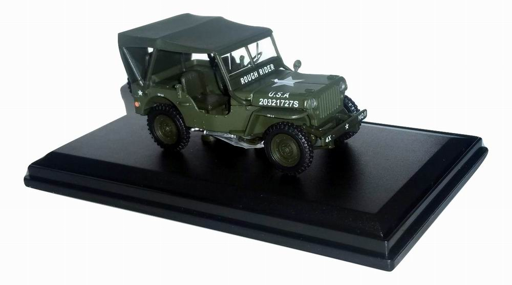 Voiture Jeep Willys capote Militaire US ARMY D-DAY 6 Juin 1944 Oliex 1/43