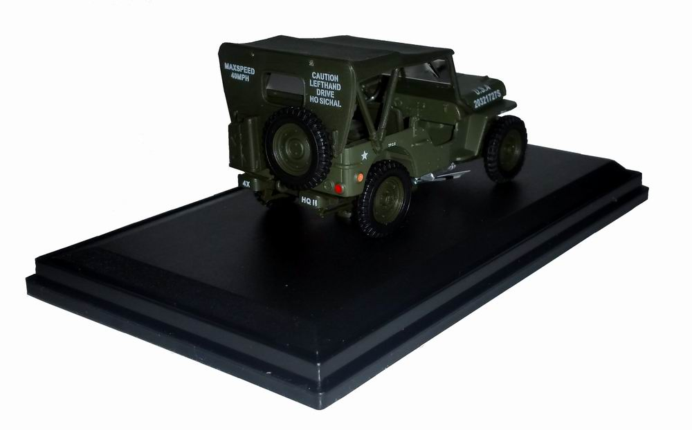 Voiture Jeep Willys fermé Militaire US ARMY D-DAY 6 Juin 1944 Oliex 1/43