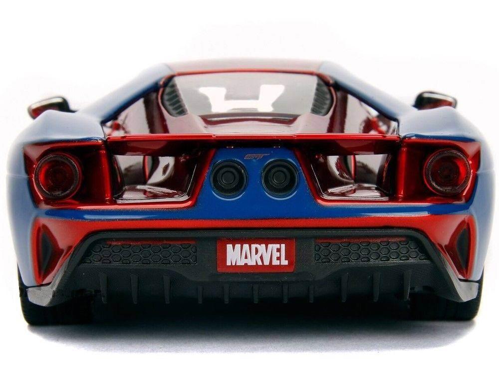 Voiture miniature FORD GT 2017 Figurine Spiderman MARVEL 1/24