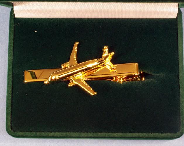 Pince à cravate Airbus A300-600 beluga dorée