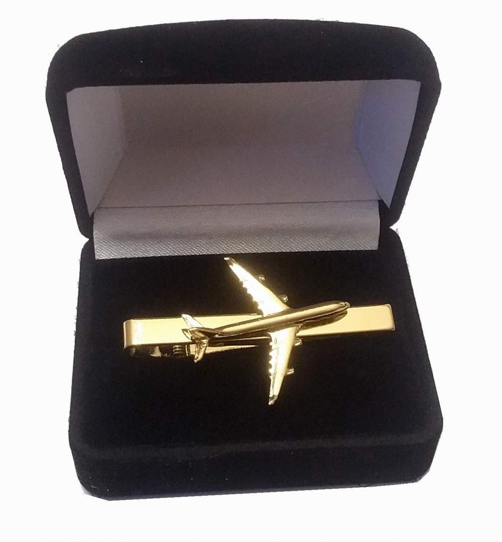 Pince à cravate Airbus A340 dorée