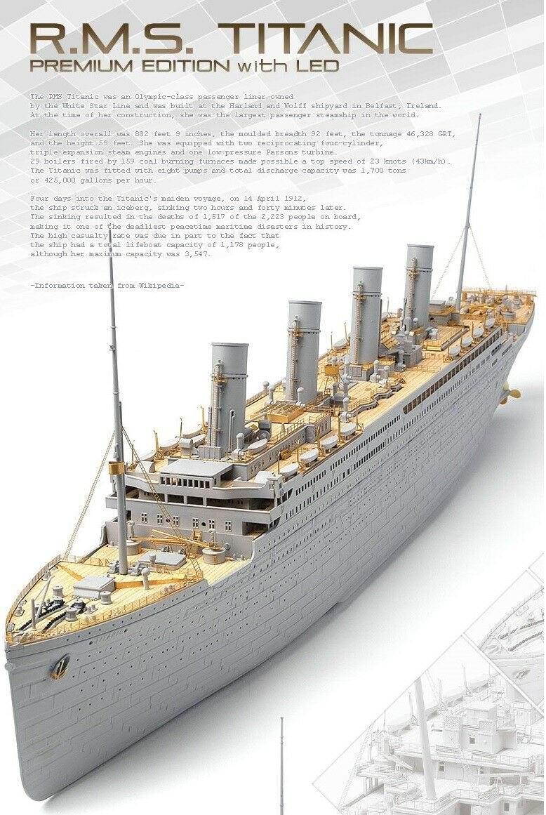 Maquette Transatlantique RMS TITANIC 1:400 Kit LED
