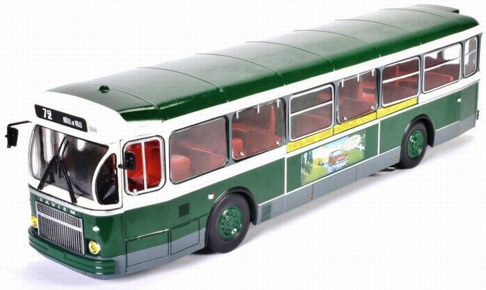 Autobus SAVIEM SC10U de la RATP de 1965 Ligne 72 HOTEL DE VILLE - PONT DE SAINT CLOUD 1/43