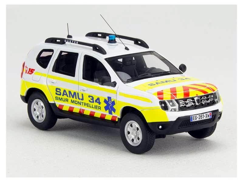 Miniature DACIA Duster SAMU 34 1/43 Alarme