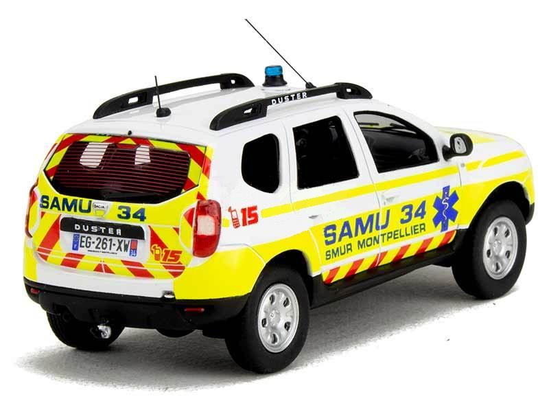 Miniature DACIA Duster SAMU de l'Hérault 34 1/43 Alarme