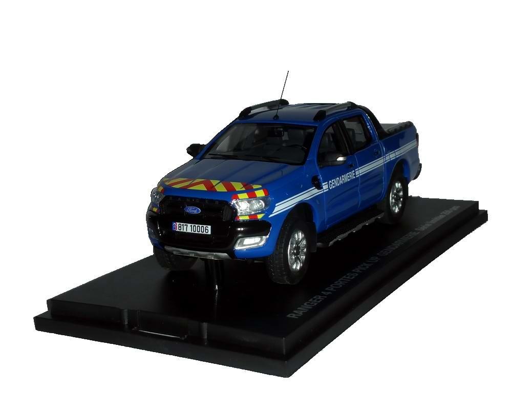 Miniature Pickup Ford Ranger GENDARMERIE 1/43 Alarme