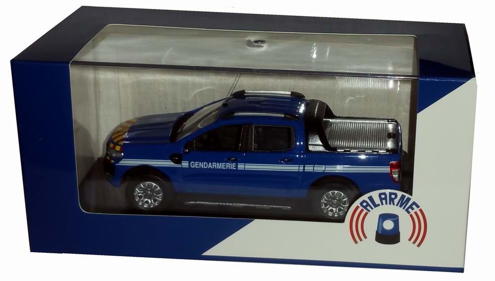 Miniature pick-up Ford Ranger GENDARMERIE 1/43 Alarme
