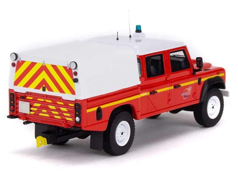 Miniature LAND ROVER DEFENDER 130 VLHRN Sapeurs Pompiers SDIS Nantes 1/43 Alarme