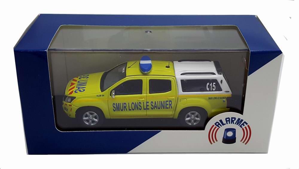 Miniature ISUZU D-MAX SAMU 39 SMUR LONS LE SAUNIER 1/43 Alarme