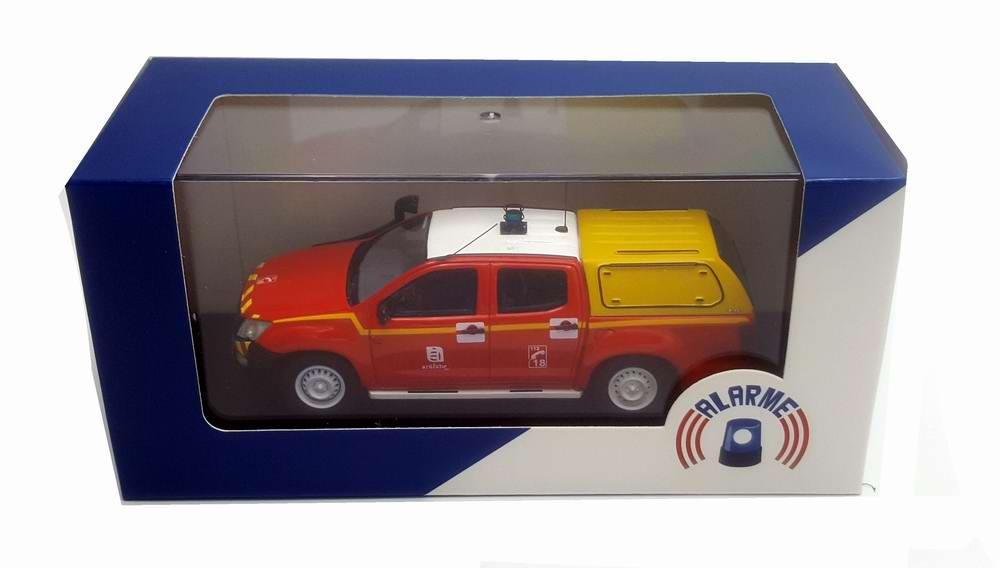 Miniature ISUZU D-MAX Sapeurs Pompiers VLTT SDIS SDIS 07 Ardèche Sapeurs Pompiers SDIS 07 1/43 Alarme