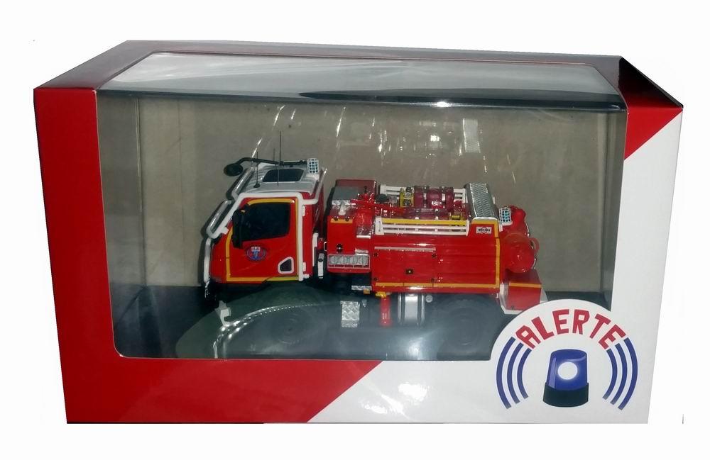 Miniature Camion de Sapeurs Pompiers Unimog U20 CCF Massias SDIS 31 Haute-Garonne 1/43