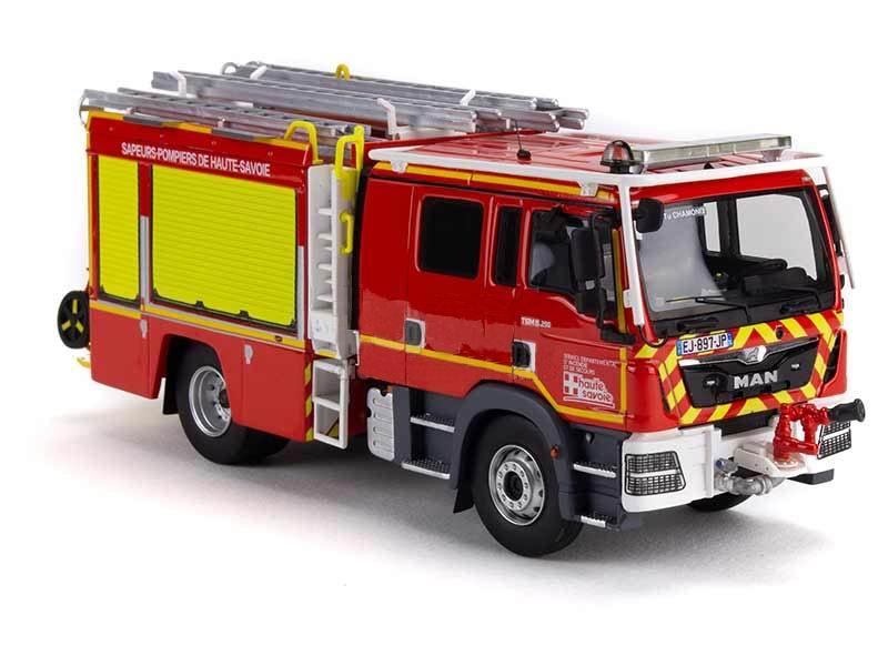 MAN Camion de Sapeurs Pompiers TGM 15290 GALLIN FPT TUNNEL du Mont Blanc SDIS 74 Haute-Savoie  1/43 Alerte