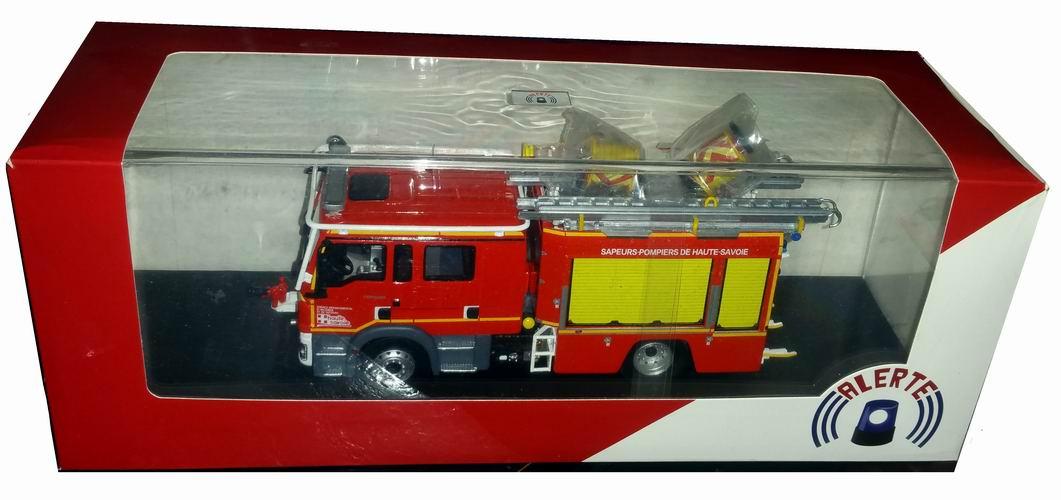 MAN Camion de Sapeurs Pompiers TGM 15290 GALLIN FPT TUNNEL du MontBlanc SDIS 74 Haute Savoie  1/43 Alerte