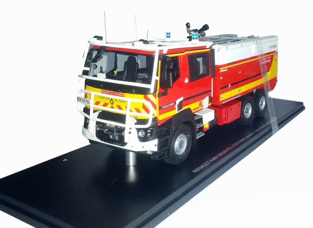 RENAULT K460 Camion de Sapeurs Pompiers CCFS 8000 MINISTÈRE DE L'INTÉRIEUR Desautel Sécurité Civile 1/43 Alerte