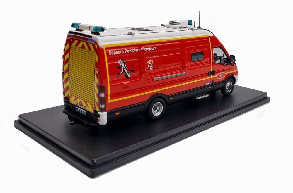 Miniature IVECO DAILY Sapeurs Pompiers DOUBLE CABINE VPL Véhicule Plongeur SDIS 36 1/43 Alerte