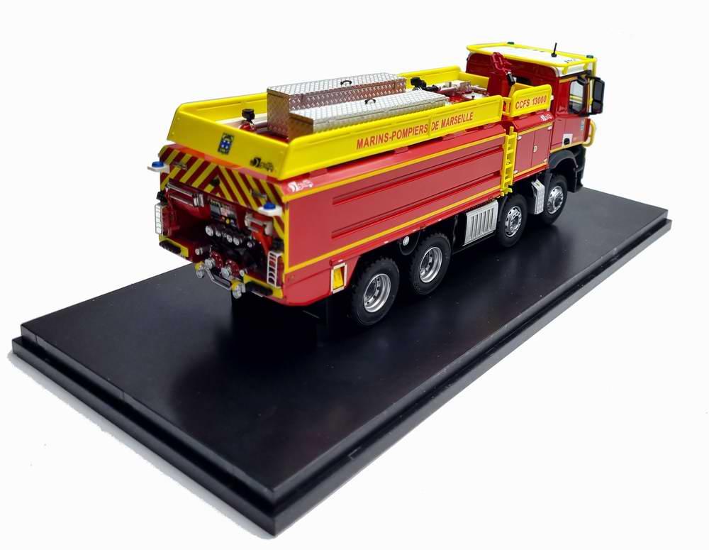 Camion de Pompiers MERCEDES AROCS CCFS GALLIN 13000 BMPM Marseille 1/43 Alerte