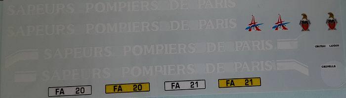 IVECO Camion de Sapeurs Pompiers de Paris Eurocargo 1/43 ALERTE