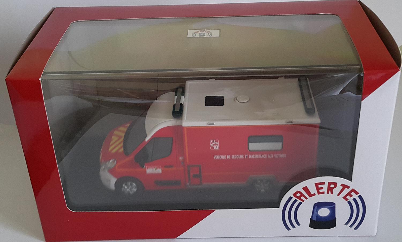 RENAULT MASTER 3 CAISSON VSAV 33 Camion de Sapeurs Pompiers 1/43 Alerte