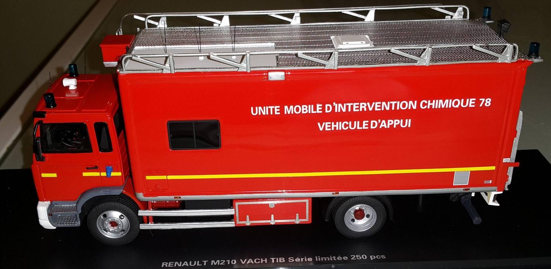 Alerte0047 RENAULT M180 UNITE MOBILE INTERVENTION UMI CHIMIQUE 78 Camion de Sapeurs Pompiers 1/43 Alerte0047
