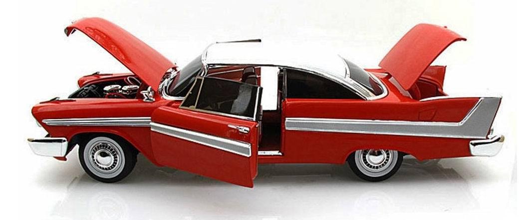 Miniature Voiture Plymouth Fury 1958 version nuit version Christine 1/18
