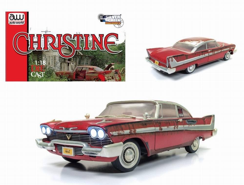 Miniature Voiture Plymouth Fury 1958 version sale Christine 1/18
