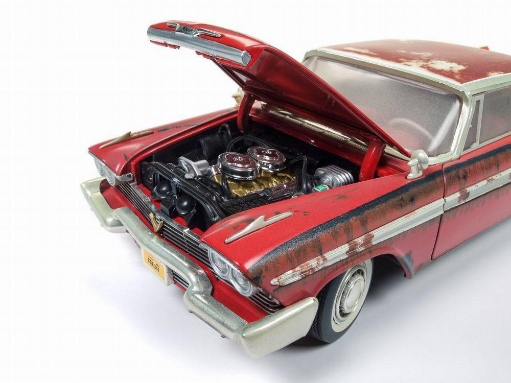 Miniature Voiture Plymouth Fury jour rouillé 1958 du film Christine Autoworld