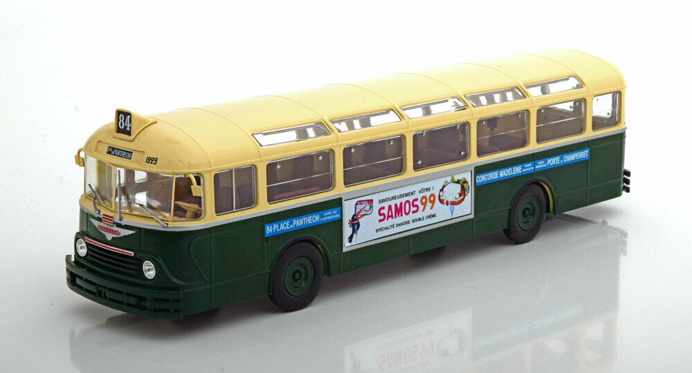 Autobus APVU CHAUSSON APU53 RATP 1953 Ligne 84 PLACE du PANTHEON - PORTE de CHAMPERRET 1/43