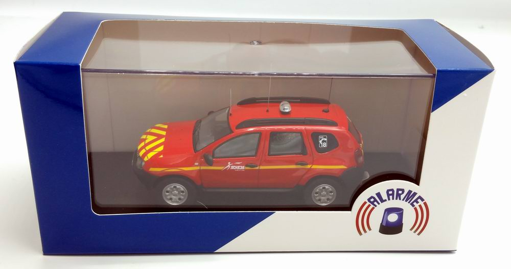 Miniature DACIA Duster pompier sdis 28 1/43 Alarme