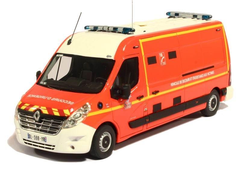 Miniature Camion de Sapeurs Pompiers RENAULT MASTER LONG GIFA VSAV 77 Chelles 1/43 Alerte