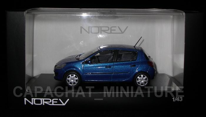 Voiture miniature Renault Clio III bleue Ottoman NOREV 1/43