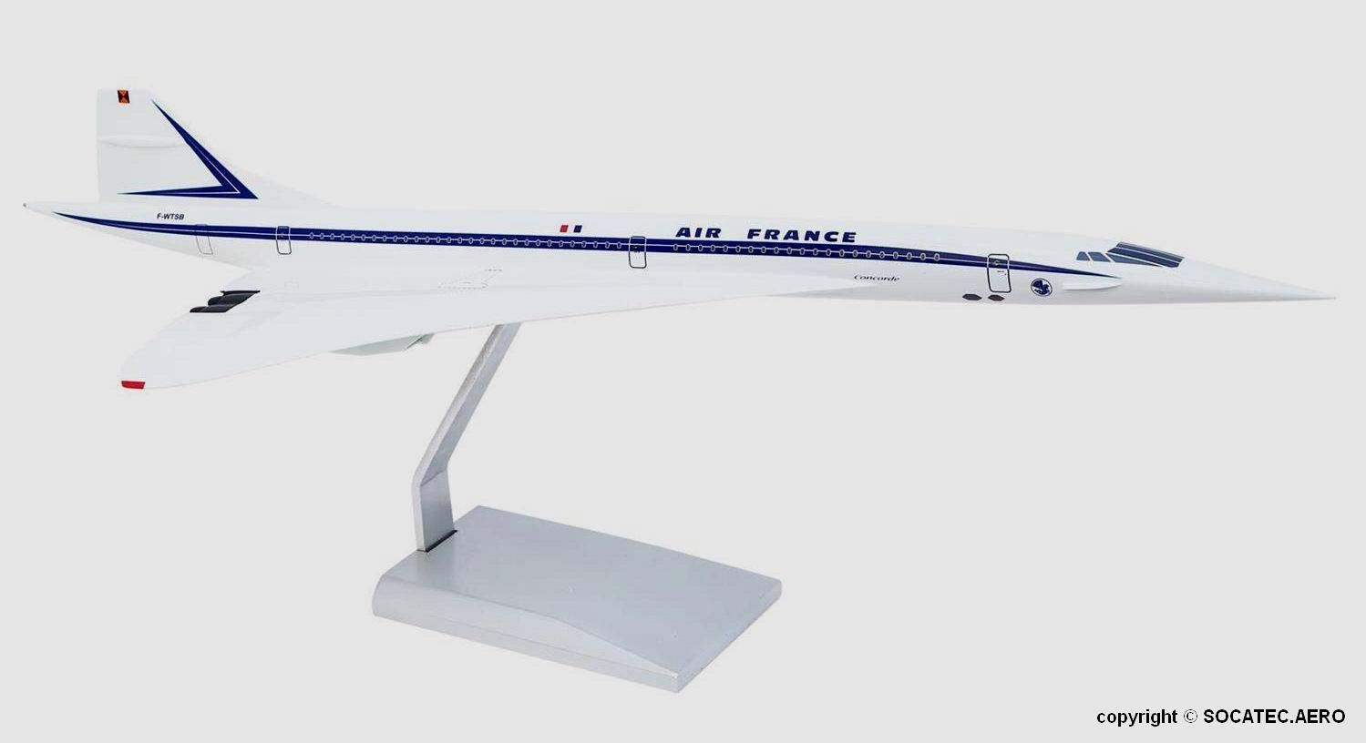 Concorde Officiel F-WTSB AIR FRANCE 1/100