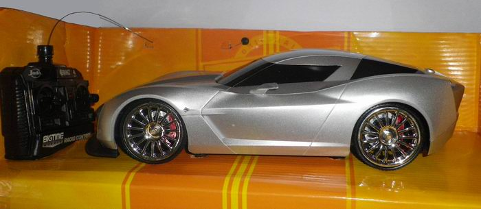 CHEVROLET CORVETTE STINGRAY CONCEPT RC RADIO CONTROL 1/16 JADA BIGTIME MUSCLE