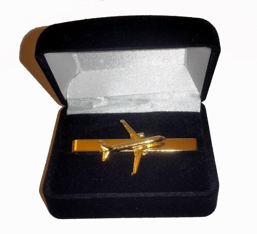 Pince à cravate Airbus A320 dorée