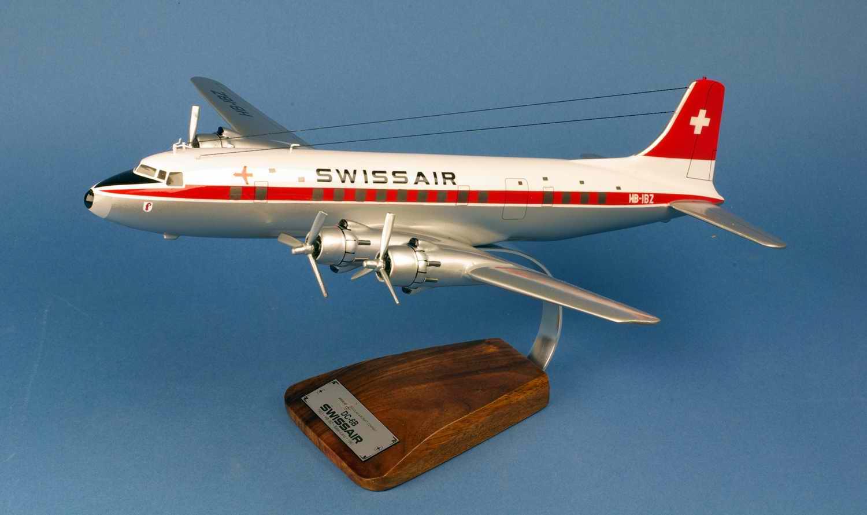 Maquette Avion DOUGLAS DC-6B Basel-Land SWISSAIR 1/72