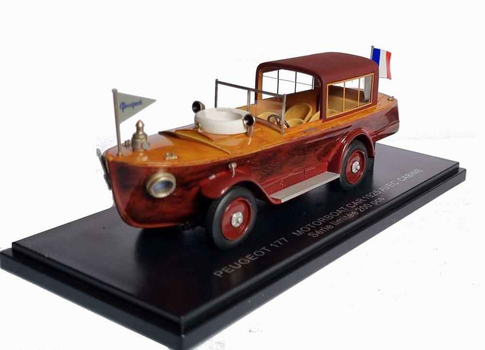Voiture PEUGEOT 177 MOTORBOAT CAR 1925 AVEC CABINE