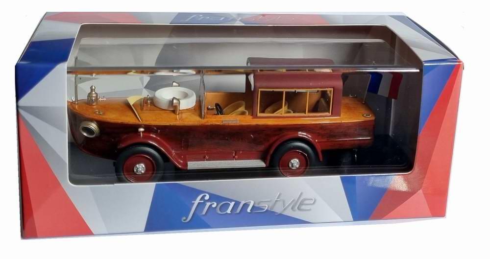 Miniature PEUGEOT177 voiture bateau 1925 AVEC CABINE