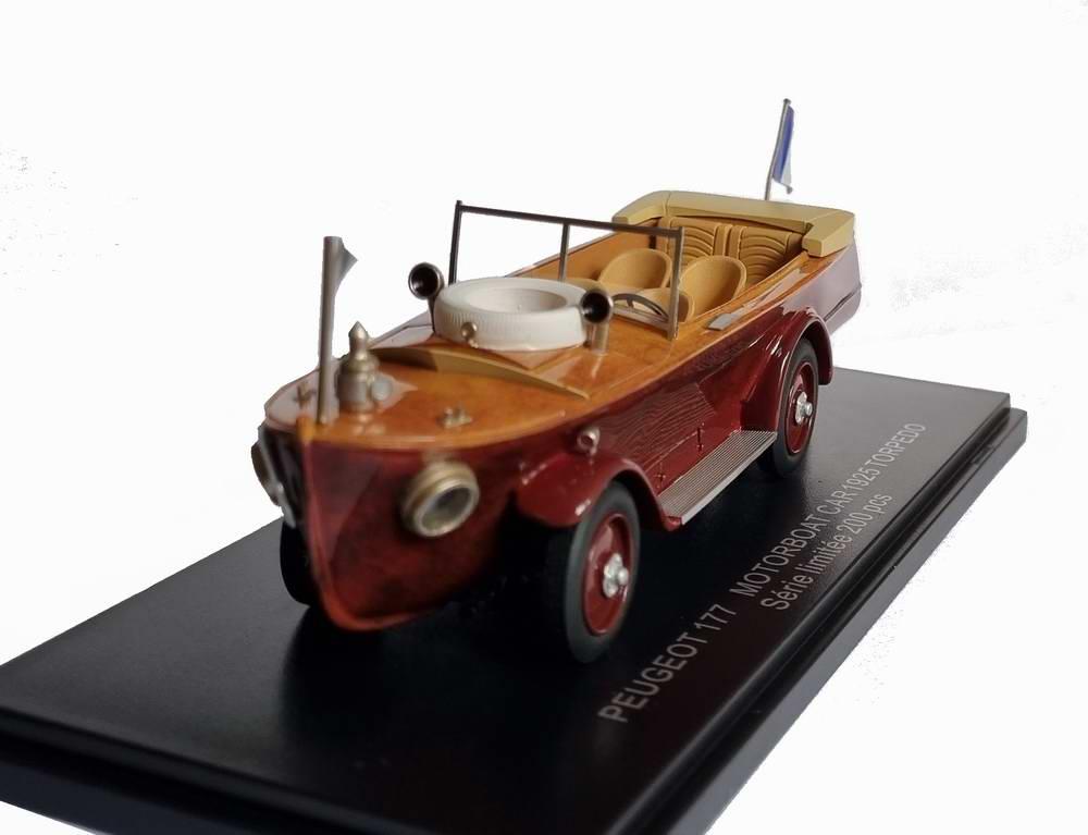 Voiture PEUGEOT 177 MOTORBOAT CAR 1925 Torpedo