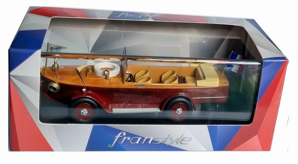 Miniature PEUGEOT177 voiture bateau 1925 Torpedo