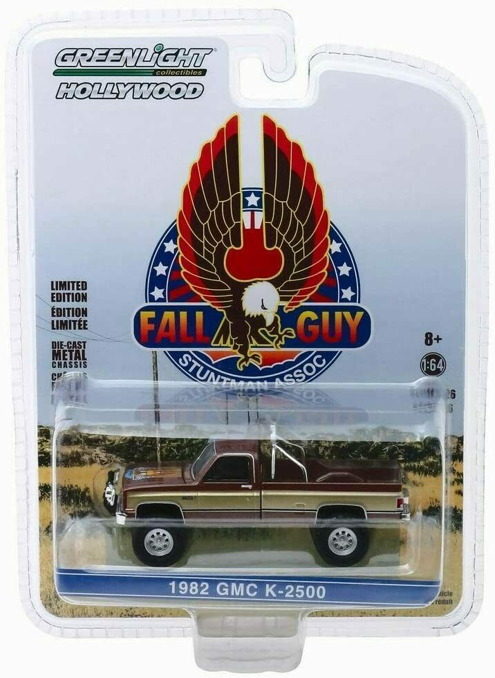 Voiture miniature GMC Chevrolet Pick-Up Sierra K2500 L'Homme Qui Tombe à Pic Colt Seavers Stuntman Association 1/64 Greenlight