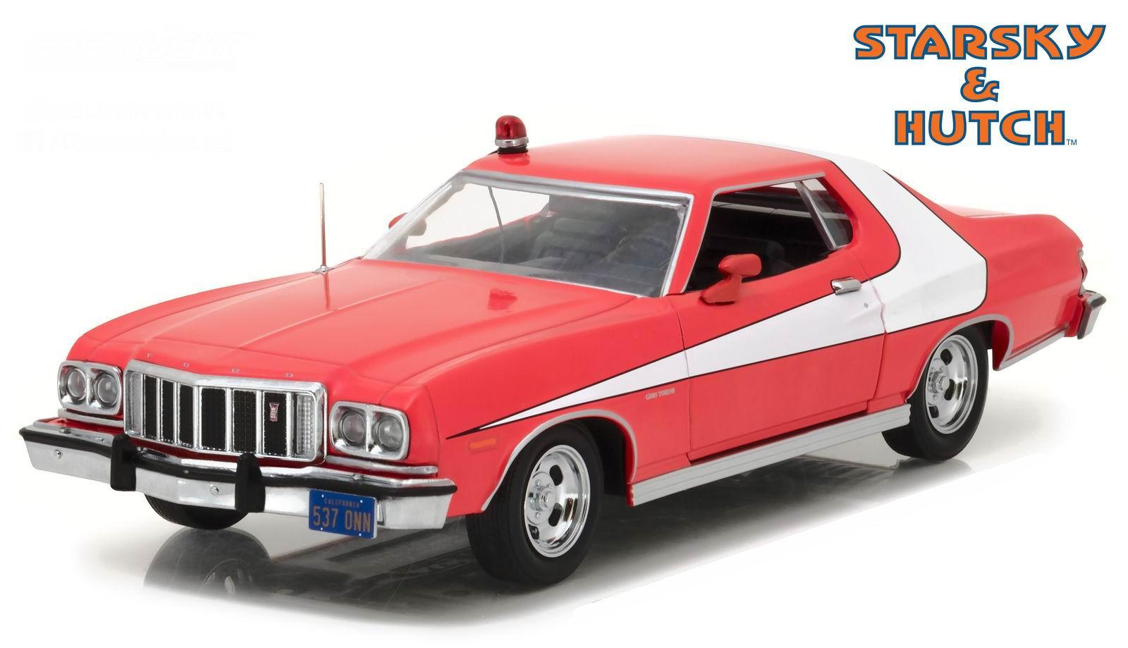 Voiture miniature métal Ford Gran Torino 1976 du Film Starsky et Hutch 1/24 greenlight