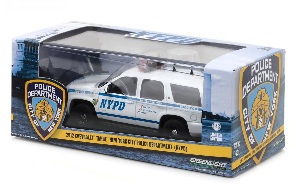 Véhicule CHEVROLET Tahoe 2012 NYPD NEW YORK POLICE DEPARTMENT 1/43