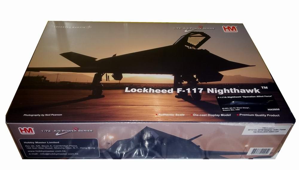 Maquette avion F117 Nighthawk blacksheep kosovo 1/72