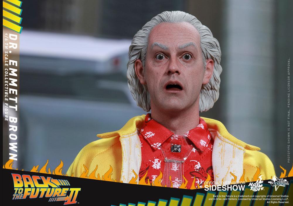 Figurine de Doc Docteur Emmett Braun du film Retour vers le Futur 2
