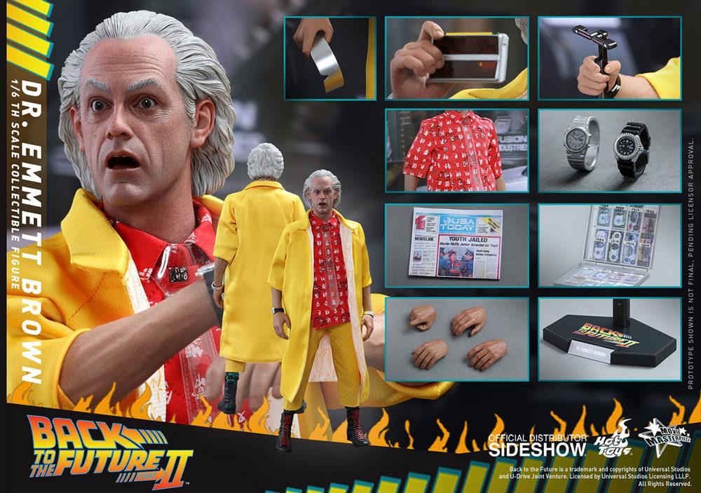 Figurine de Doc Docteur Emmett Lathrop Brown du film Retour vers le Futur 2
